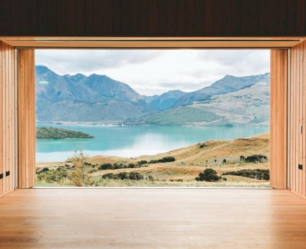 The Aro Ha yoga room looks out over a backdrop straight out of the The Lord of the Rings. PHOTO:...
