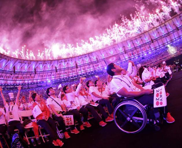 Fireworks erupt during the closing ceremony at Maracana Stadium. Photo: Reuters