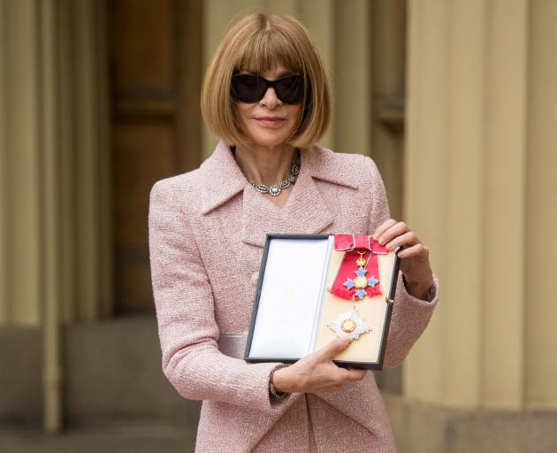 Anna Wintour after the ceremony at Buckingham Palace. Photo: Reuters