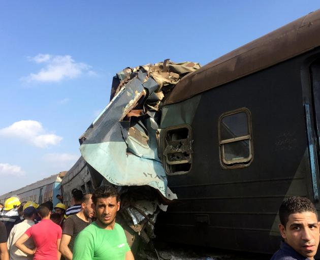 The collision near Khorshid station at the edge of Alexandria derailed the engine of one train...