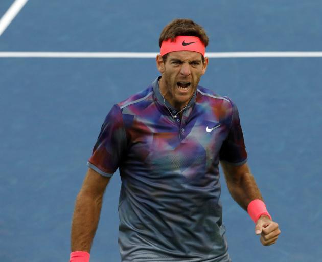 Juan Martin del Potro dug deep to win his five-set match. Photo: Reuters
