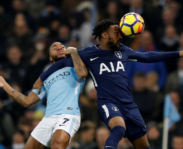 Tottenham's Danny Rose (right) in action with Manchester City's Raheem Sterling. Photo: REUTERS...