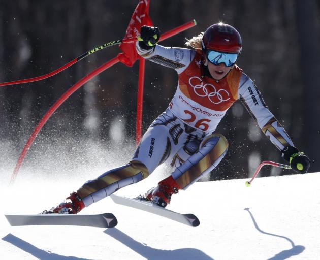 Ester Ledecka competing in the Women's Super G event. Photo: Reuters