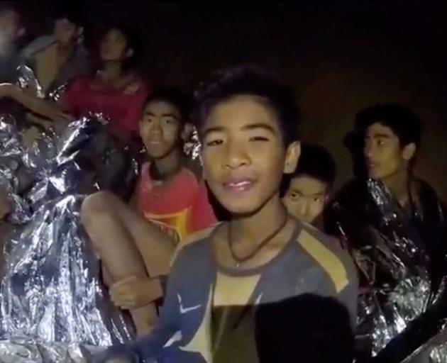 The boys were trapped inside Tham Luang cave for two weeks. Image: Thai Navy Seal via Reuters