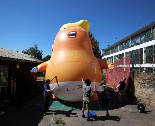 The Trump blimp. Photo: Reuters