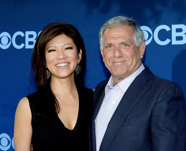 Les Moonves with wife Julie Chen. Photo: Reuters