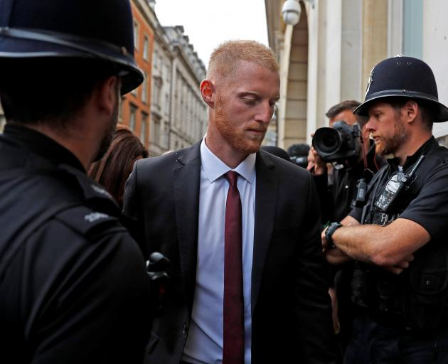 Ben Stokes arriving at Bristol Crown Court. Photo: Reuters