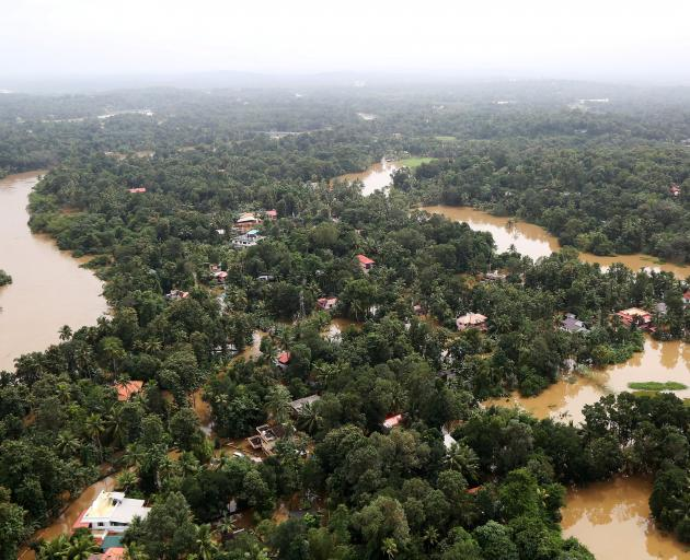 The flooding in Kerala has been described as the worst in a century in the southern state. Photo:...