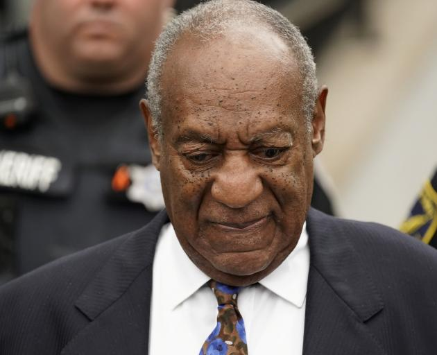 Bill Cosby leaves the Montgomery County Courthouse in  Norristown, Pennsylvania, after the first...