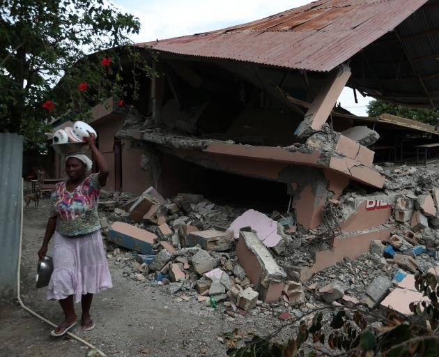 A destroyed school in Gros Morne, northern Haiti. Photo: Reuters