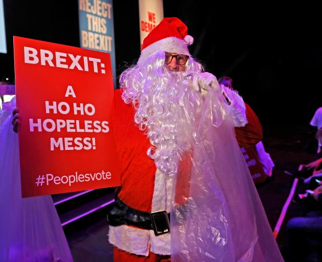 A pro-EU supporter at joint political rally by Best for Britain and the People's Vote campaign in...