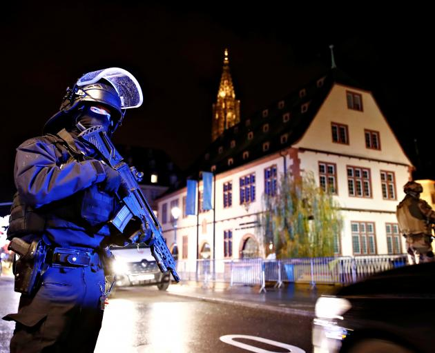 Central Strasbourg was put in lockdown. Photo: Reuters