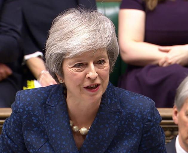 Theresa May speaks at Prime Minister's Questions in the House of Commons on Wednesday. Photo:...