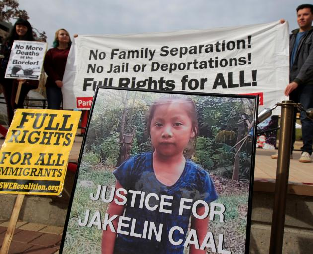 Protesters in El Paso, Texas demand justice for Jakelin, who died in US custody. Photo: Reuters