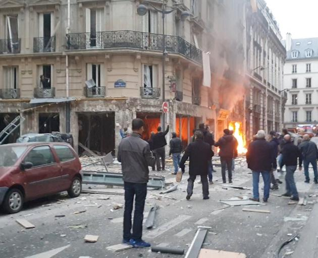 The explosion happened at a bakery shop in Paris. Image: social media via Reuters