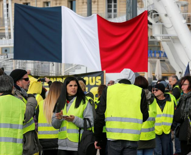 The 'yellow vest' protests quickly spiralled into a broader movement against the political elite...