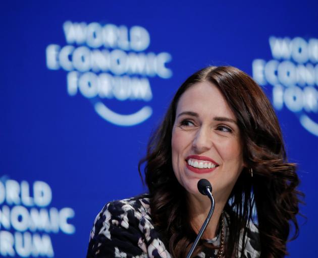 Jacinda Ardern was speaking at the World Economic Forum in Davos. Photo: Reuters