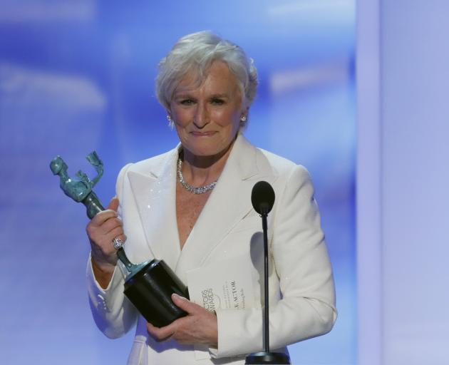 Glenn Close added a SAG award to the Golden Globe won earlier this month for her performance in...