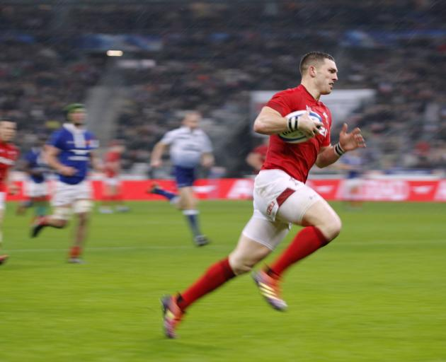 George North races off for Wales' second try.  Photo: Reuters
