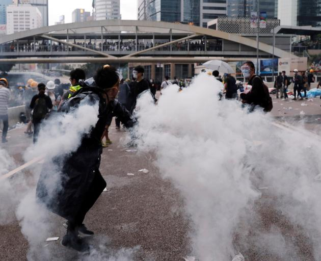 Wednesday's protest saw some of the worst violence in Hong Kong since Britain handed it back to...