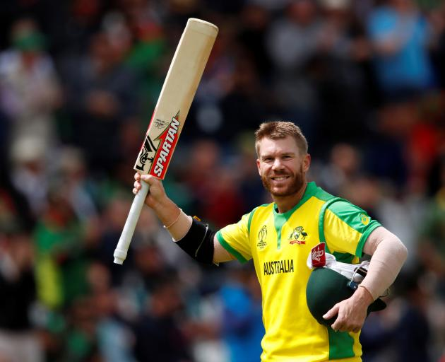 David Warner's knock of 166 is the second-highest score in a World Cup by an Australian - beaten...