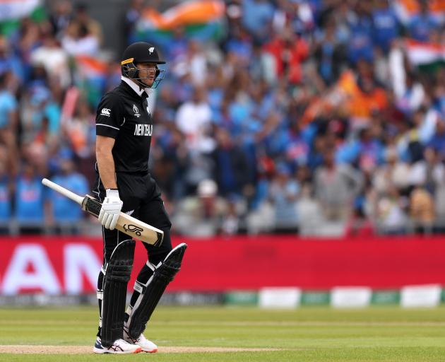 Opener Martin Guptill leaving the pitch on Tuesday. Photo: Action Images via Reuters