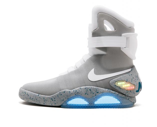 """The Nike Mags sneaker, the design worn by Marty McFly character in """"Back to the Future Part II""""..."""