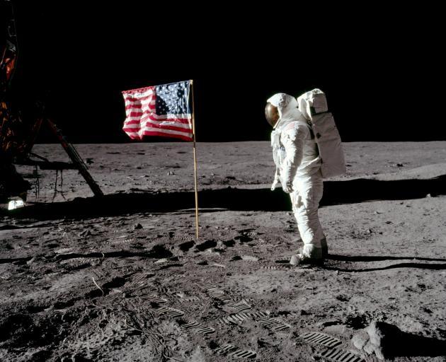 Apollo 11 pilot Buzz Aldrin on the moon on July 20, 1969. Photo: NASA via Reuters