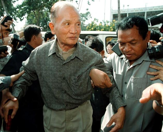 Nuon Chea was found guilty of crimes against humanity and sentenced to life in prison in 2014....