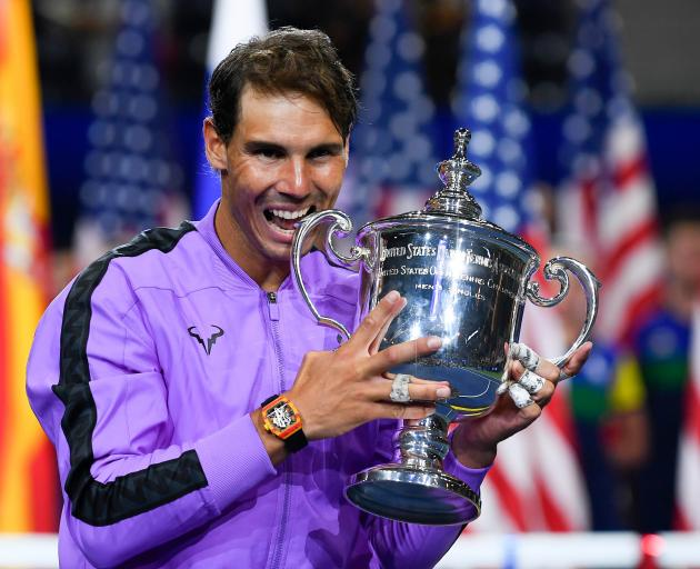 The US Open win is his 19th Grand Slam title. Photo: Reuters