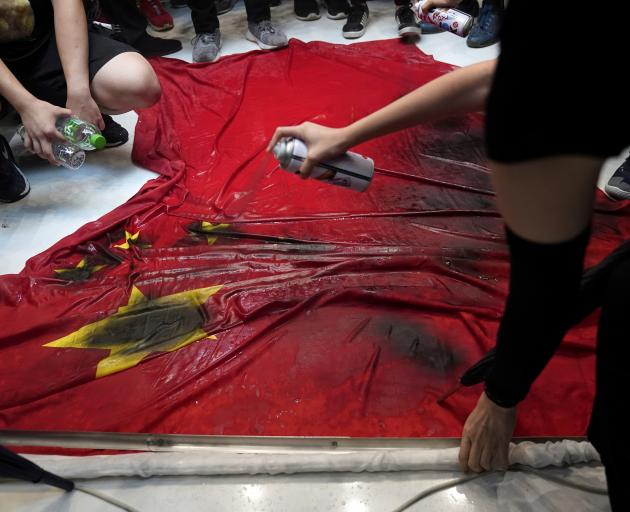 Image result for HONG kong protest anti-china flag