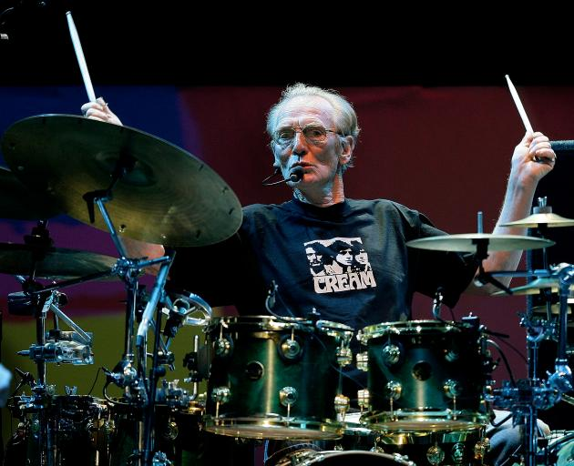 Ginger Baker performing at the Royal Albert Hall in London in 2005. Photo: Reuters