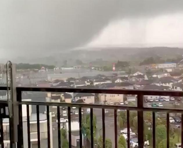 A tornado hit Ichihara City, Chiba prefecture on Saturday. Photo: TWITTER @CHAMA_TAKUYA via REUTERS