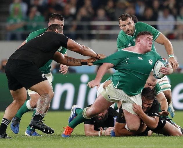 The All Blacks never let Ireland get going, dominating the entire game. Photo: Reuters