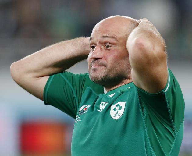A dejected Rory Best after the match. Photo: Reuters