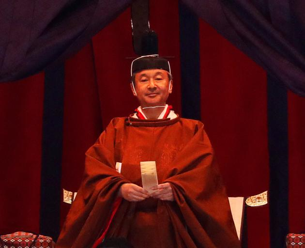 Emperor Naruhito at the Imperial Palace in Tokyo. Photo: Reuters