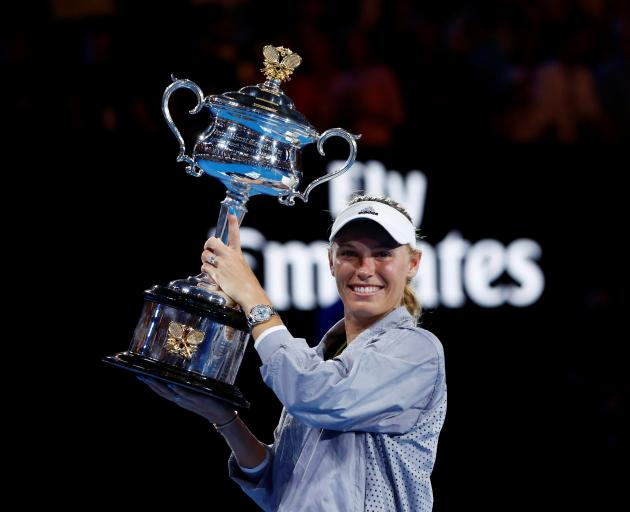 Caroline Wozniacki won the Australian Open last year. Photo: Reuters