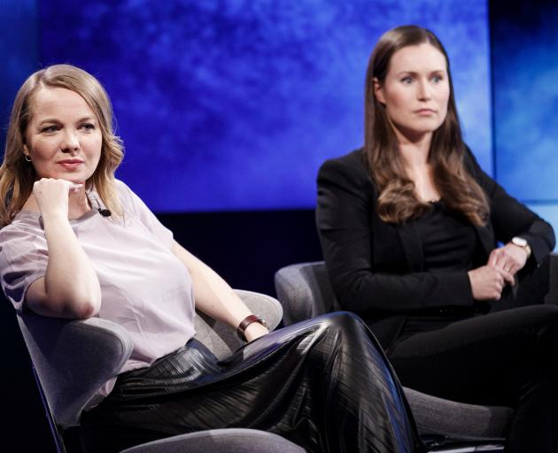 Katri Kulmuni (left) and Sanna Marin. Photo: Lehtikuva via Reuters