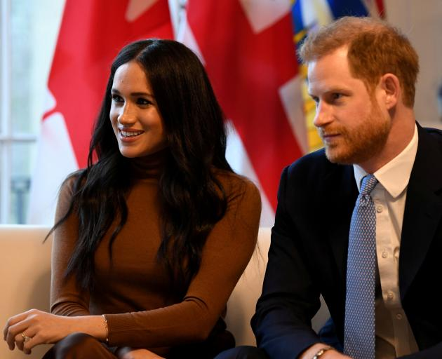 Harry and Meghan plan to be based in North America as they retreat from royal life. Photo: Reuters