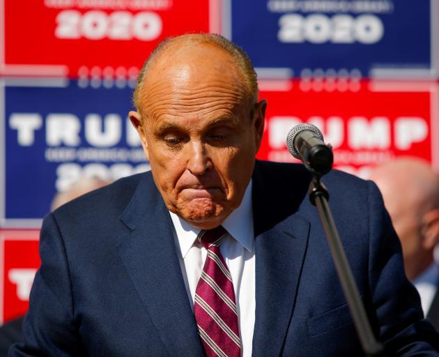Donald Trump's lawyer Rudy Giuliani. Photo: Reuters