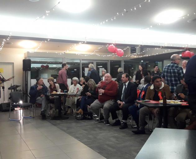 Labour supporters at the Woolston Club. Photo: Louis Day