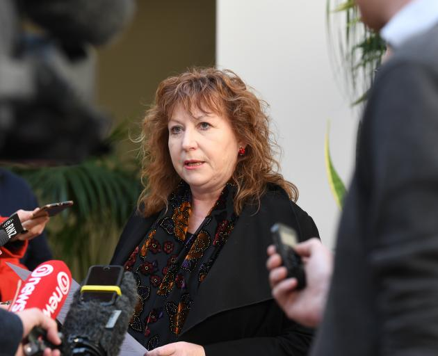 Clare Curran announced her resignation as a minister in South Dunedin on Friday. Photo: Stephen...