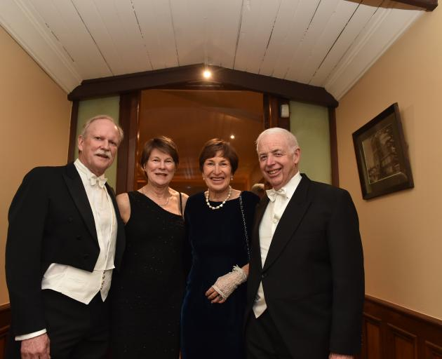 From left: Alistair and Ali Edmond from Christchurch, with Lady Jan and Sir Eion Edgar at Larnach...