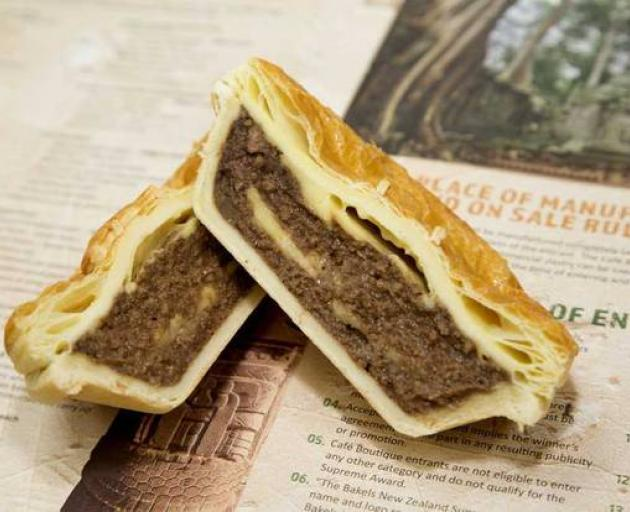 The winning mince and cheese pie from Goldstar Patrick's Pies. Photo: upplied