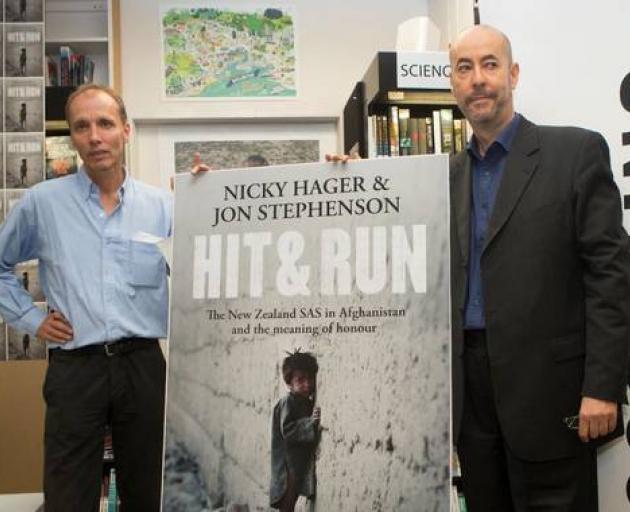 Hit & Run authors Nicky Hager and Jon Stephenson. Photo: NZ Herald