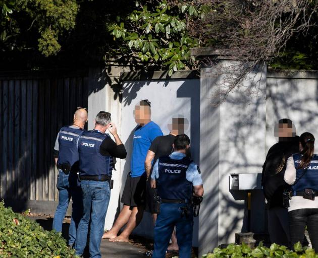 Police raided a property in Fendalton this morning. Photo: George Heard / NZH