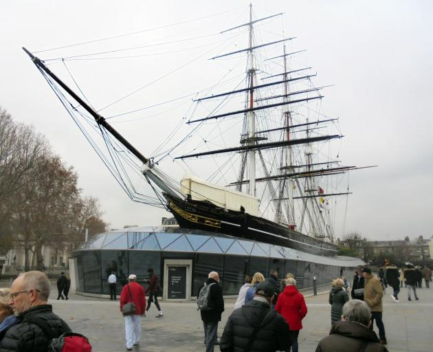 Cutty Sark, the landmark target for rescue across the River Thames.