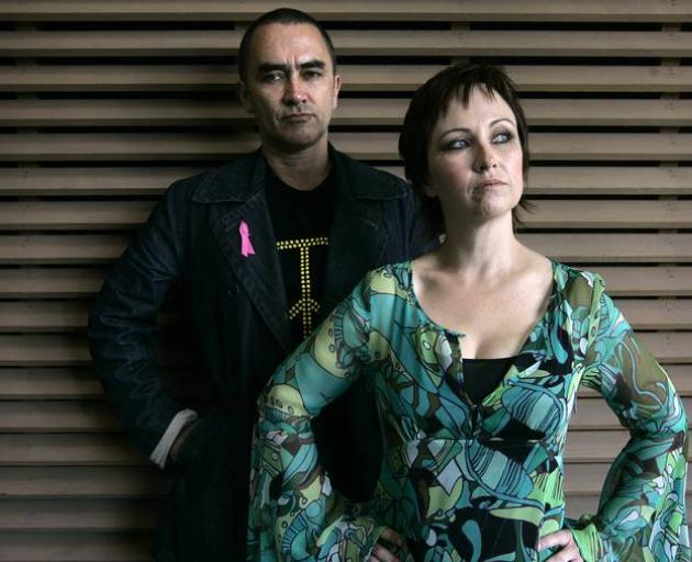Grant Fell with singer Fiona McDonald. Photo: NZ Herald