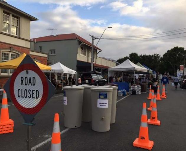 There are drinking water stations in around Martinborough Square for those visiting the fair...