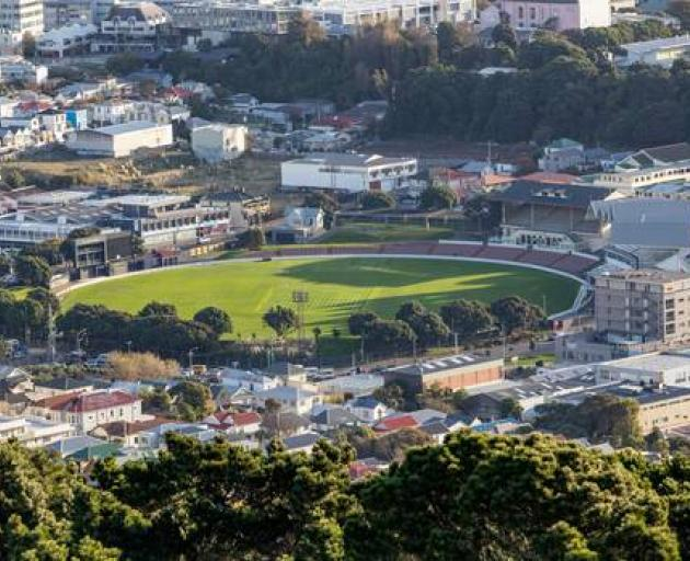 Fringed with pohutukawa trees, the Basin Reserve is a much-loved cricket ground. Photo: NZ Herald